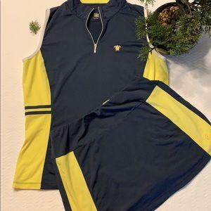 "🍀""Tail"" tennis skorts and tank set"